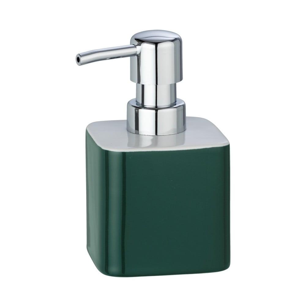 Tmavě zelený keramický dávkovač na mýdlo Wenko Elmo