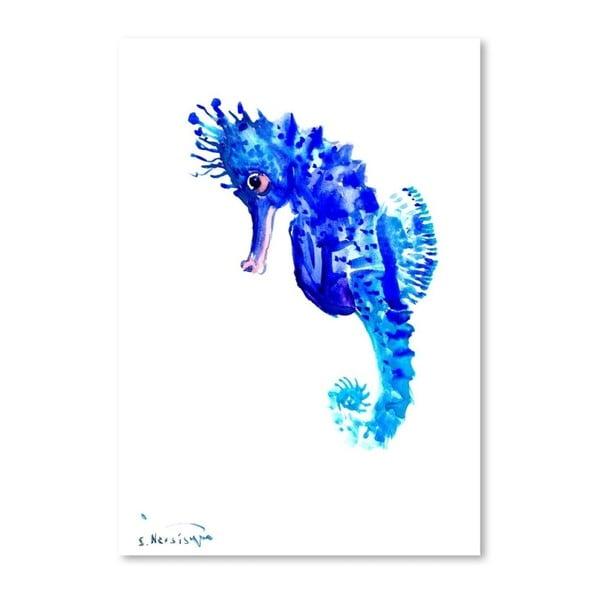 Autorski plakat Seahorse Suren Nersisyan, 30x21cm