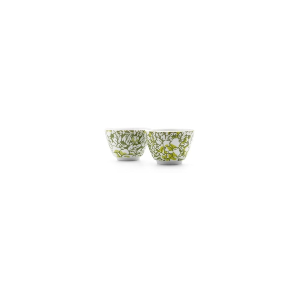 Sada 2 zelených porcelánových hrnků na čaj Bredemeijer Yantai