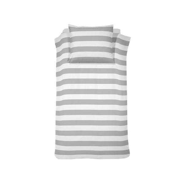 Povlečení Stribe Grey, 140x200 cm