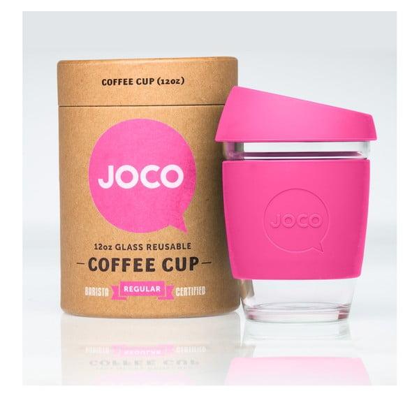 Cestovní hrnek na kávu Joco Cup 340 ml, růžový
