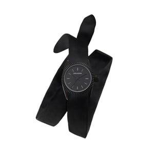 Dámské černé hodinky s dvojitým páskem Zadig & Voltaire