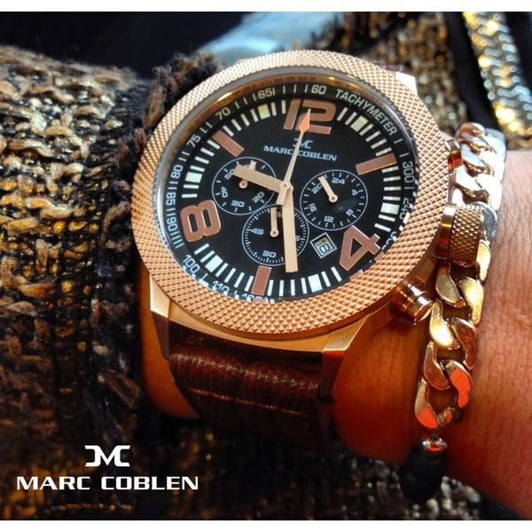 Dámské hodinky Marc Coblen s páskem a kroužkem navíc P28