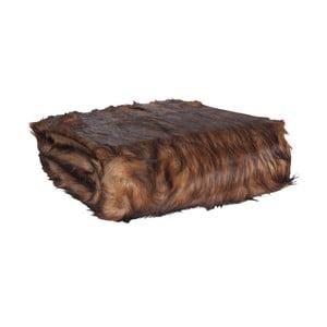 Tmavě hnědý pléd Clayre & Eef Fur, 130x180cm