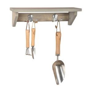 Raft și cuier din lemn de pin Esschert Design Stanley, lățime 39 cm