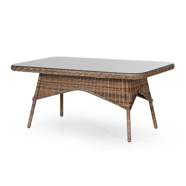 Hnědý zahradní jídelní stůl Brafab Evita, 150x90cm