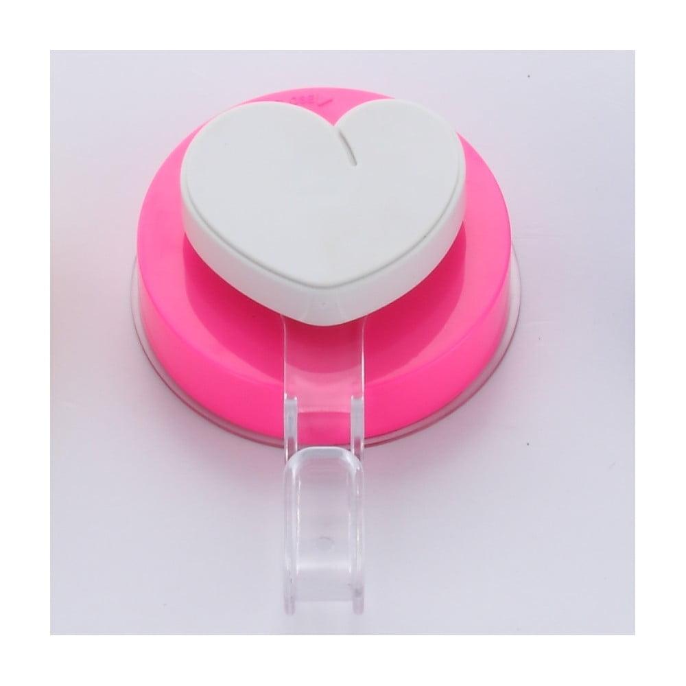 Růžový háček bez nutnosti vrtání ZOSO Heart