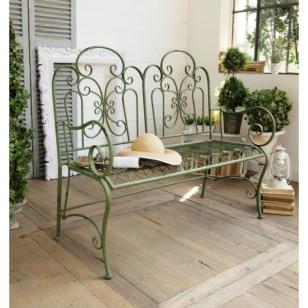 Zahradní lavice Antique Green
