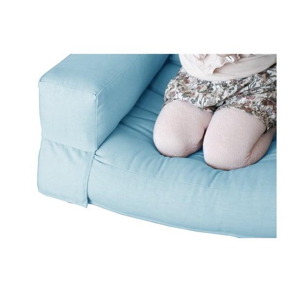Světle modré dětské rozkládací křesílko Karup Mini Hippo