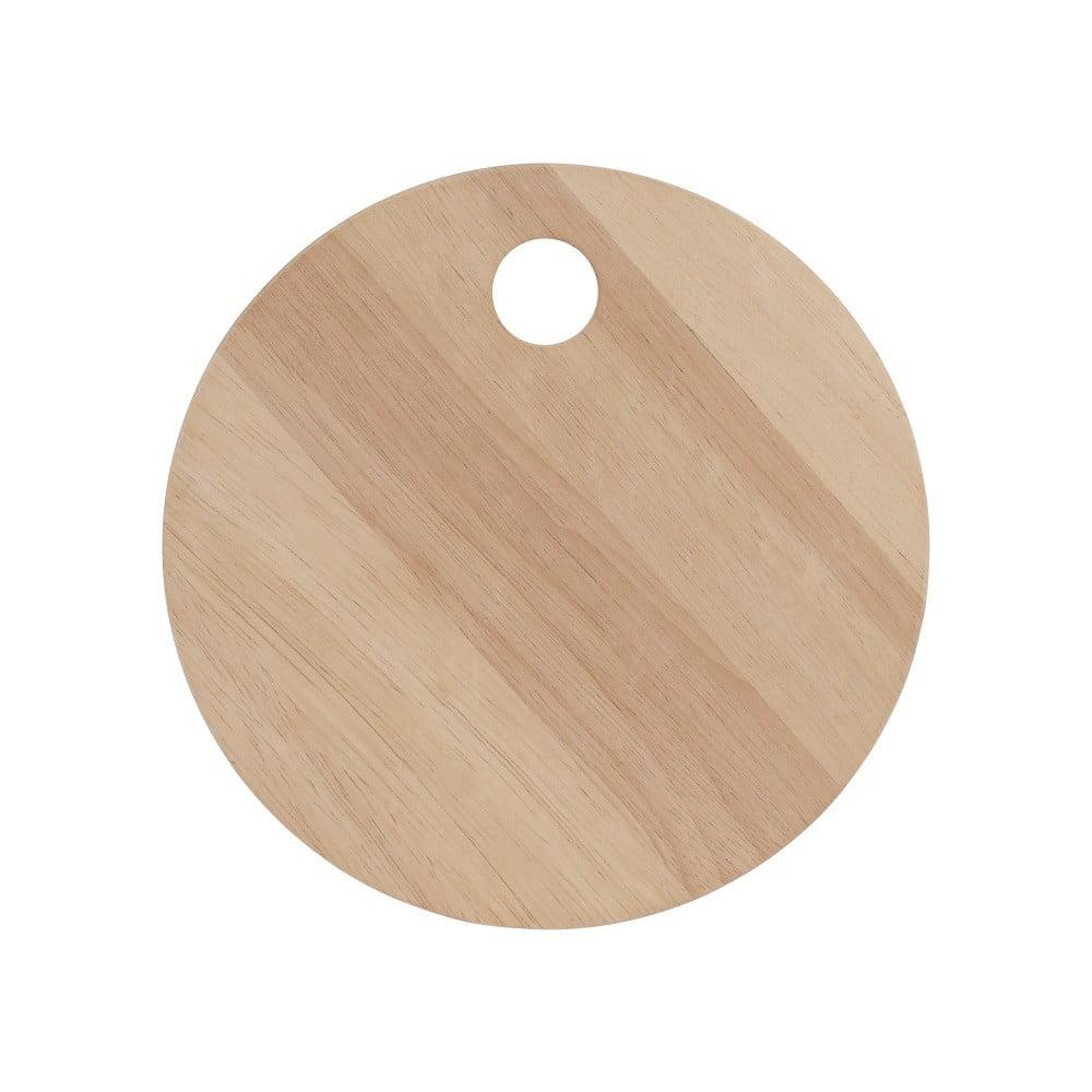 Fotografie Krájecí prkénko z exotického dřeva A Simple Mess Skals, ⌀20cm