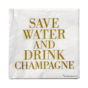 Set 20 șervețele din hârtie Bloomingville Champagne, 33 x 33 cm