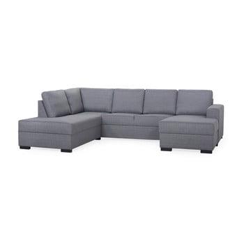 Canapea cu șezlong pe partea stângă Softnord Airton gri