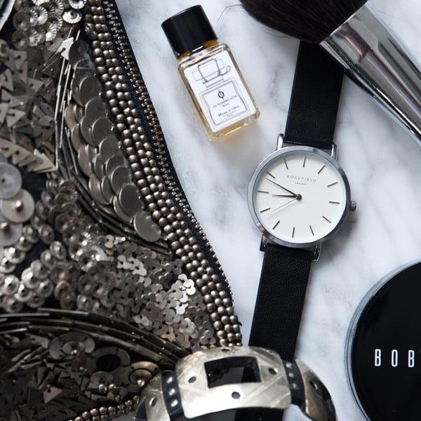 Ceas de damă Rosefield The Gramercy, argintiu/negru