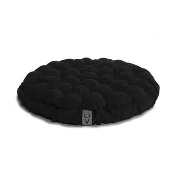 Pernă relaxare cu bile de masaj Linda Vrňáková Bloom, ø 65 cm, negru imagine