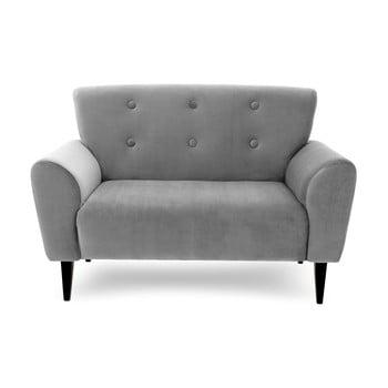 Canapea cu 2 locuri Vivonita Kiara, gri de la Vivonita