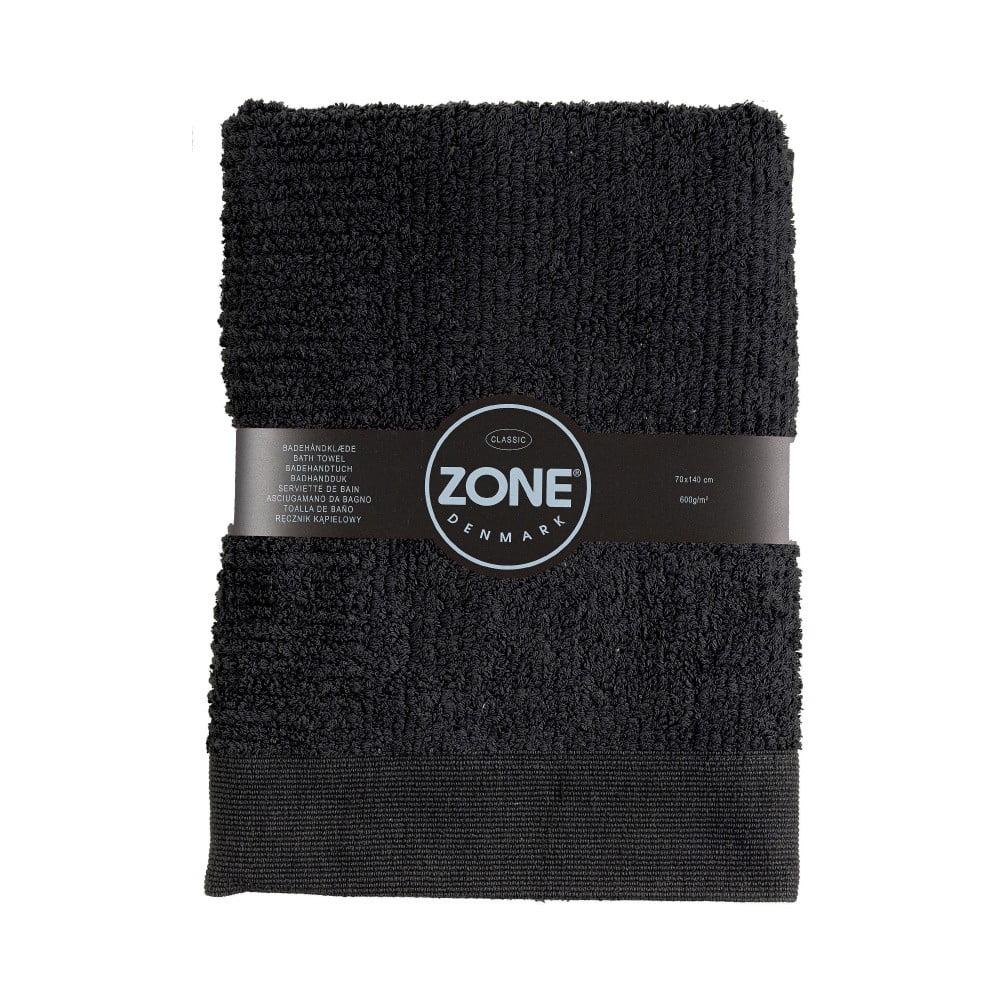 Černá osuška Zone Classic, 70 x 140 cm