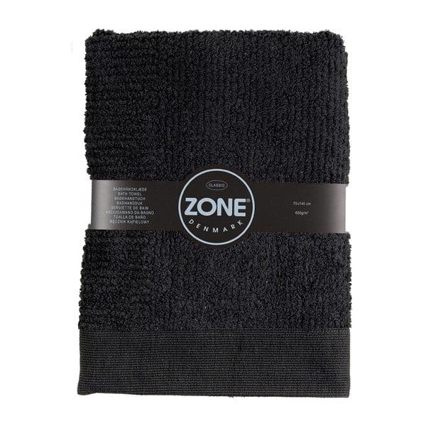 Černá osuška Zone Classic,70x140cm