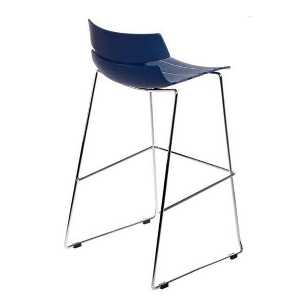 Modrá barová židle D2 Techno