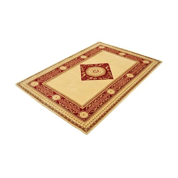 Vlněný koberec Bakero Vanilla/Red, 90x160 cm