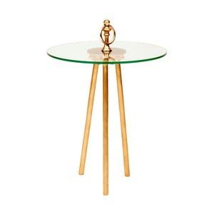 Odkládací stolek s detaily ve zlaté barvě Miloo Home Ovid