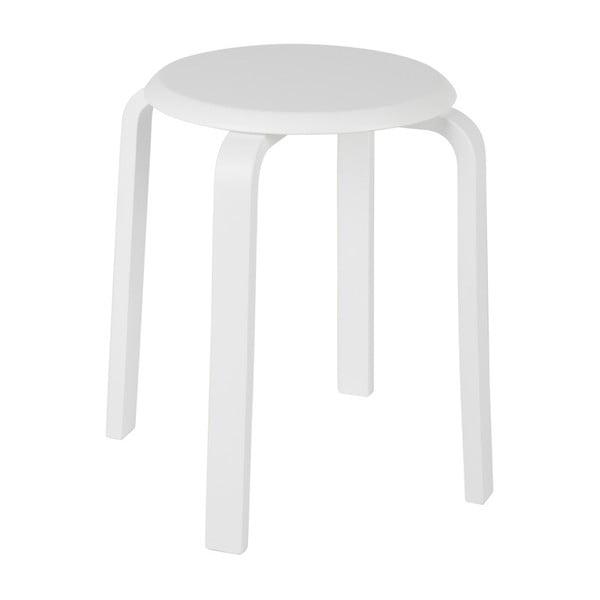 Biela stolička z brezového dreva WOOOD Diede