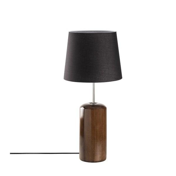 Czarna drewniana lampa stołowa Opviq lights Harula