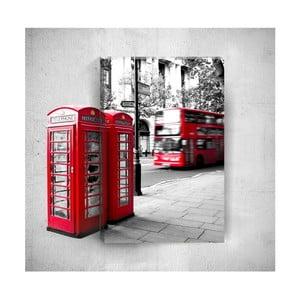 Nástěnný 3D obraz Mosticx London Street, 40 x 60 cm