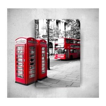 Tablou de perete 3D Mosticx London Street, 40 x 60 cm