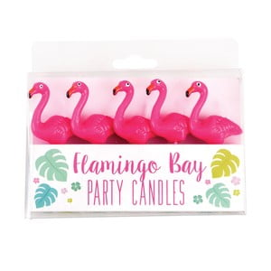 Sada 5 párty svíček Rex London Flamingo Party