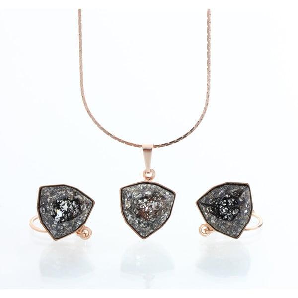 Set colier și cercei cu cristale Swarovski Laura Bruni Kloma