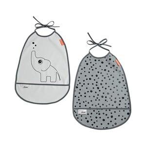 Sada 2 šedých bryndáčků Done by Deer Elphee