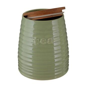 Recipient pentru ceai cu capac din bambus Premier Housewares Winnie, 950 ml, verde imagine