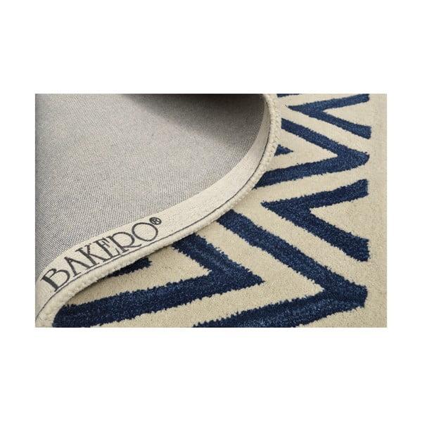 Ručně tuftovaný modrý koberec Ziggy, 244x153cm
