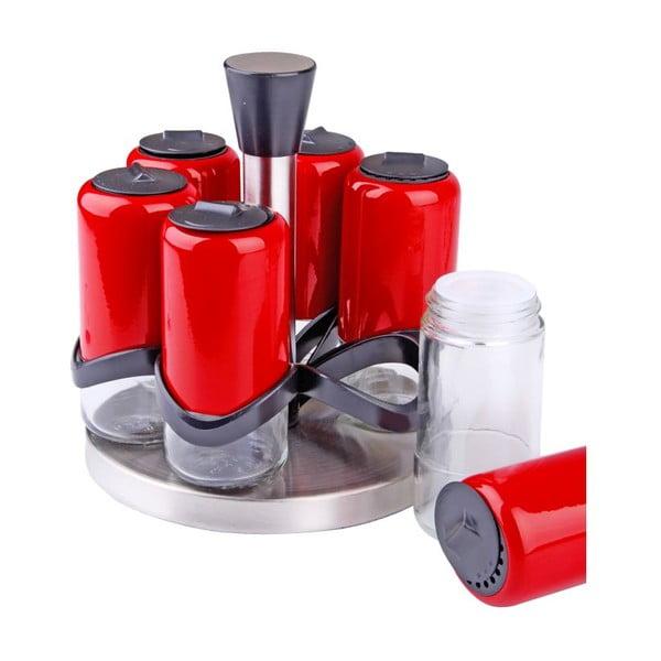 Sada 6 kořenek na rotačním stojánku Spice Red