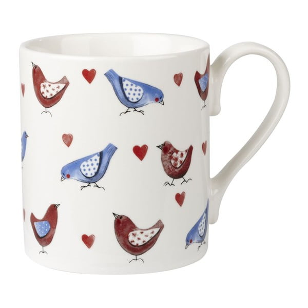 Sada 4 hrnků Churchill China Lovebirds larch, 250 ml