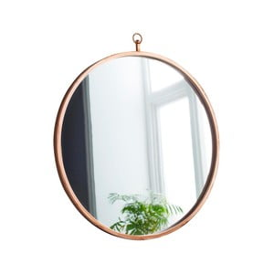 Kulaté nástěnné zrcadlo Native Round, ⌀50 cm