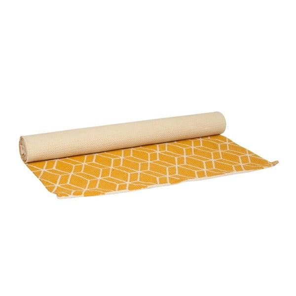 Koberec Hexagon Yellow, 140x70 cm