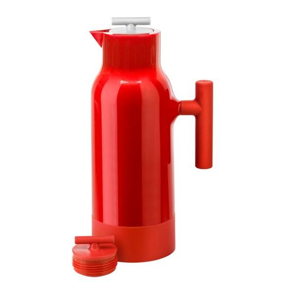 Červená termokonvice na kávu Sagaform Accent