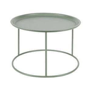 Světle zelený odkládací stolek WOOOD Ivar, Ø56cm