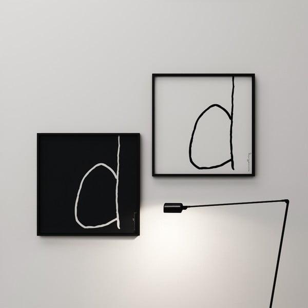 Plakát Litera D, 50x50 cm