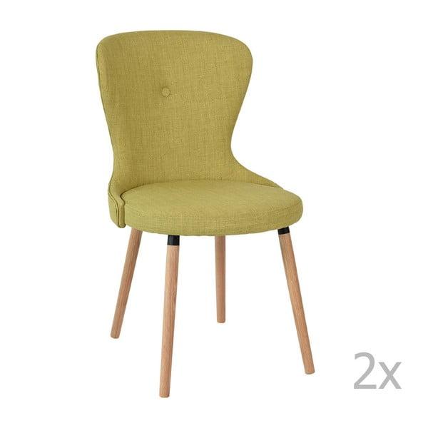 Sada 2 zelených židlí RGE