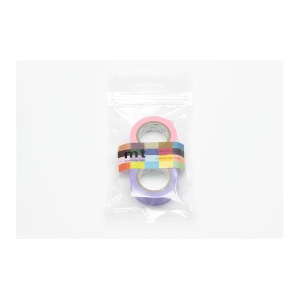 Sada 2 washi pásek Uni Rose Lavender