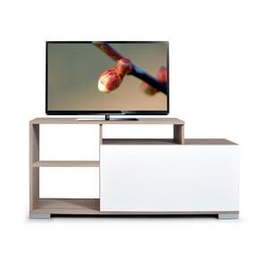 Televizní stolek Nesta, bílý/dub cordoba