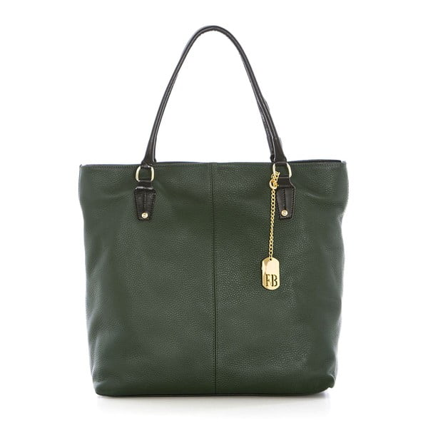 Zelená kožená kabelka Federica Bassi Harmonia