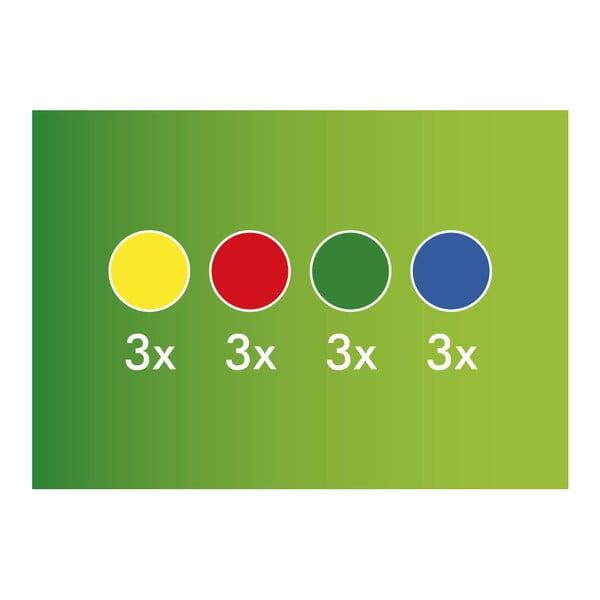 Set 12 bile colorate Hubelino