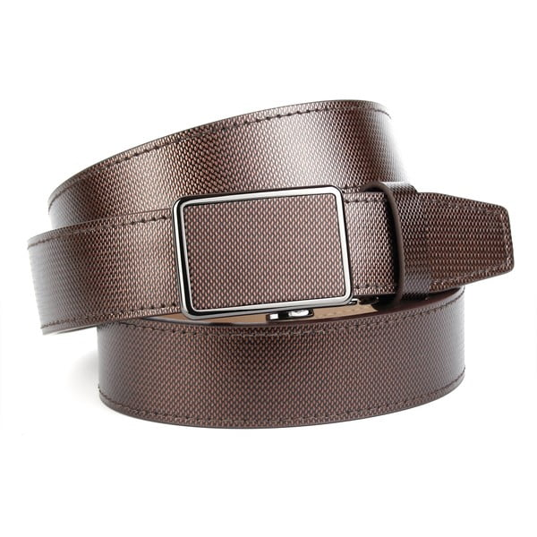 Pánský kožený pásek 37M40S Brown, 90 cm