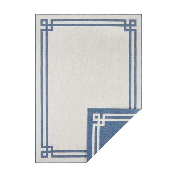 Covor adecvat pentru exterior Bougari Manito, 80 x 150 cm, albastru-crem