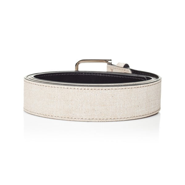 Bílý kožený dámský pásek Ferruccio Laconi Nike, délka 90 cm