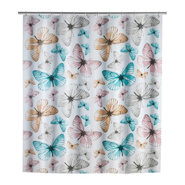 Butterfly zuhanyfüggöny, 180 x 200 cm - Wenko