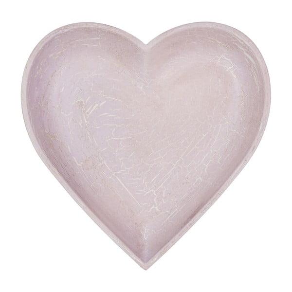 Dřevěný tác Antique Heart